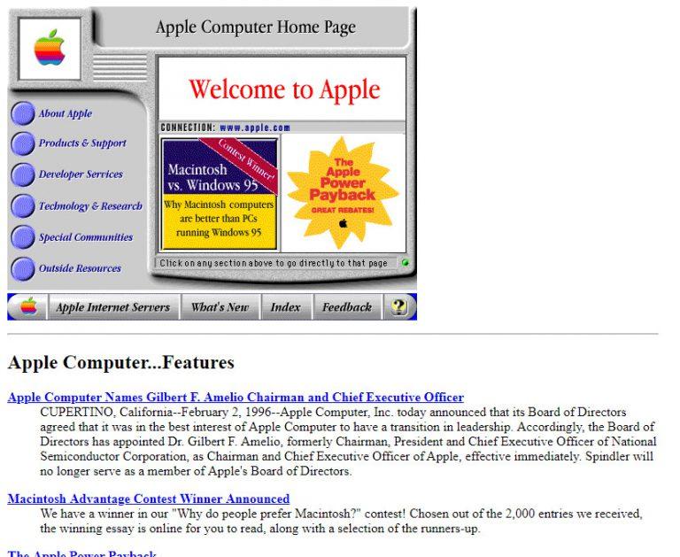 C'était beau... avant ! Apple en 1996