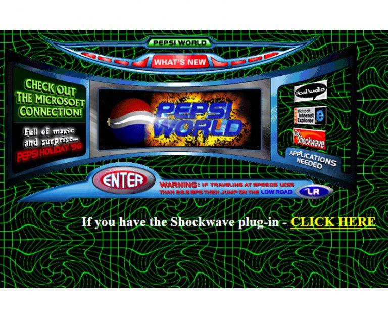 C'était beau... avant ! Pepsi en 1996