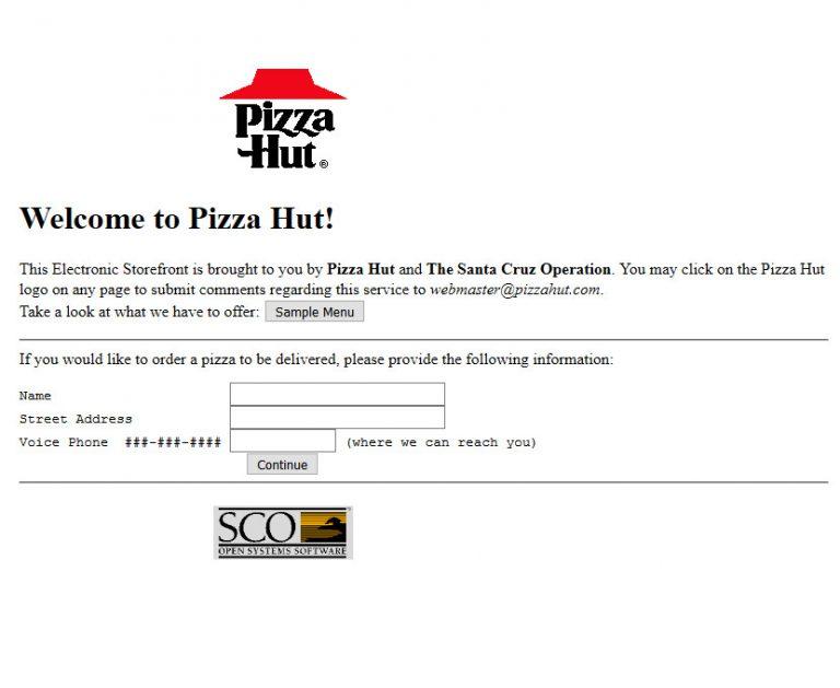 C'était beau... avant ! Pizza Hut en 1997