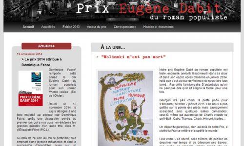 Site du prix Eugène Dabit - prix du roman populiste