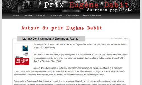 Site du prix Eugène Dabit - Page Actualités