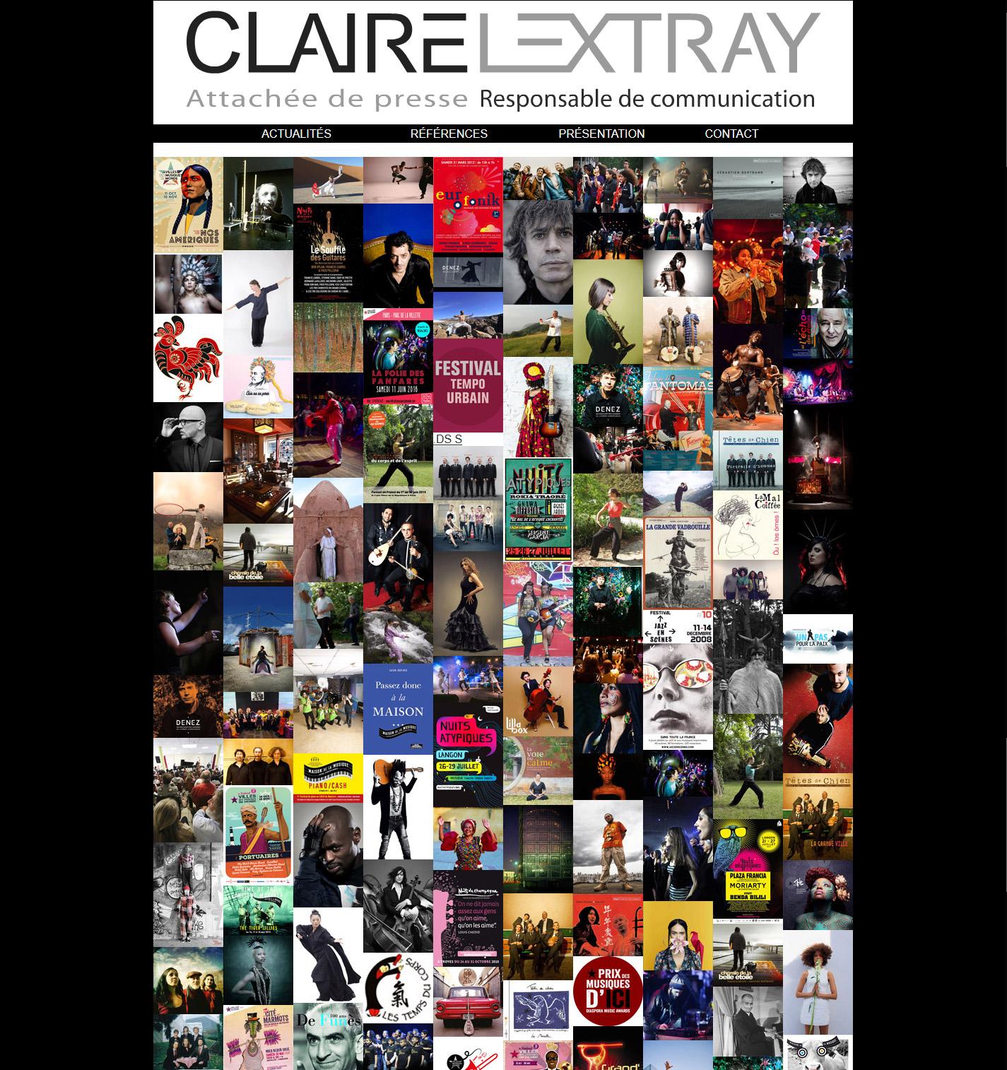 Site de Claire Lextray, attachée de presse