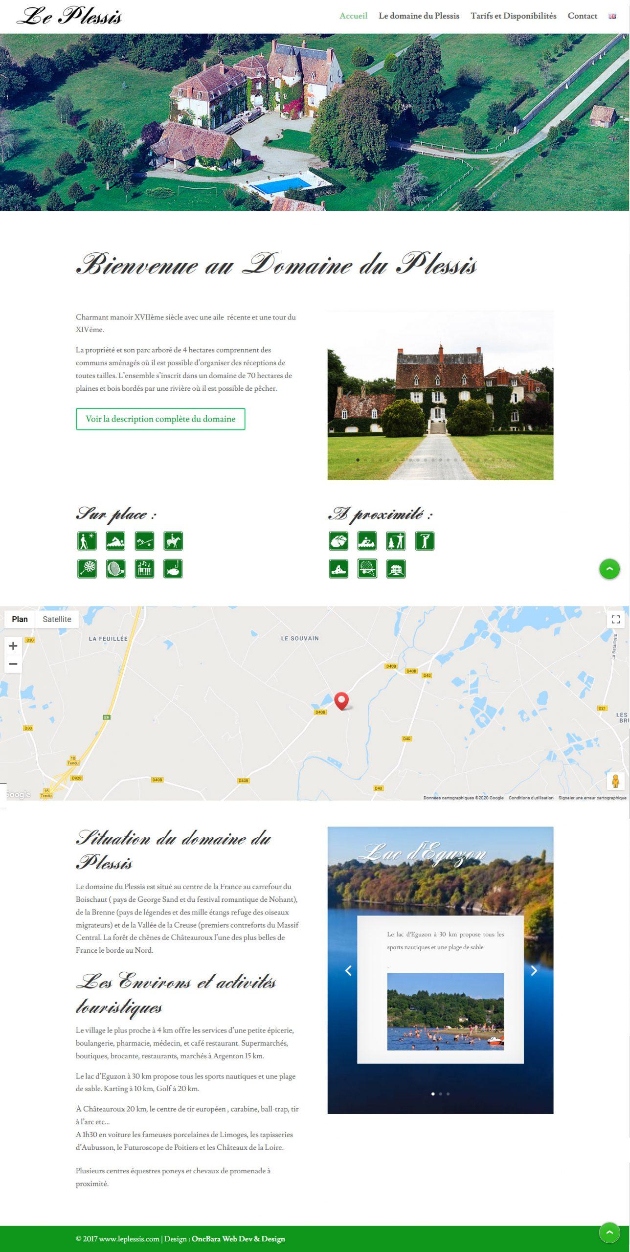 Site du Domaine du Plessis